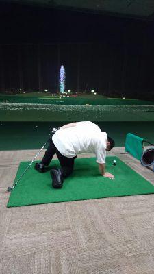 ゴルフこける