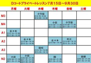 7/15(木)DコートPL