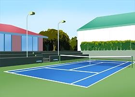 会員制のテニスクラブ